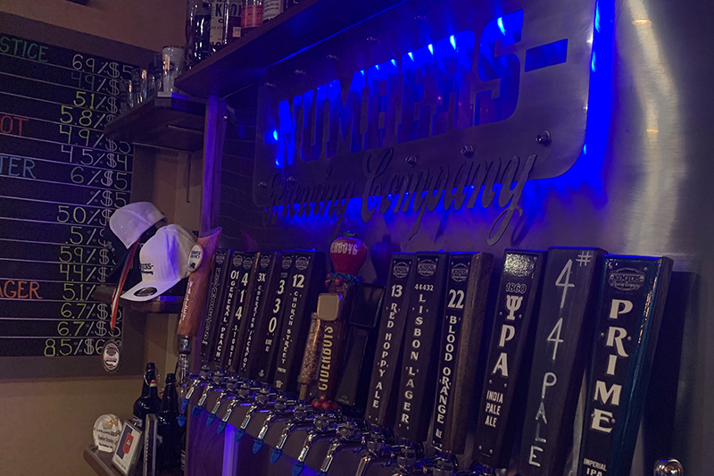 Numbers Brewing Company Tap Handles