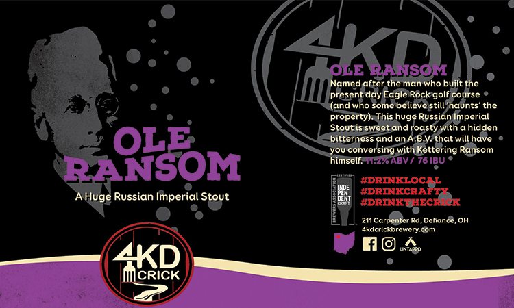 4KD Crick Ole Ransom - A Huge Russian Imperial Stout