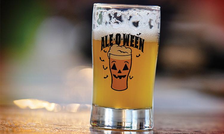 Ale-O-Ween tasting glass