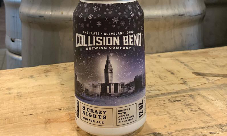 Collision Bend Brewery - 8 Crazy Nights winter ale can