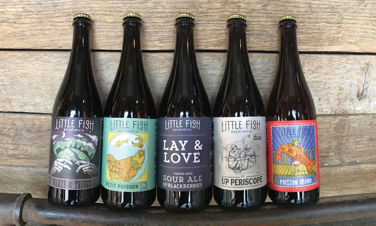Little Fish Brewing Company bottles: Maker of Things, Petit Poisson, Lay & Love, Up Periscope, Poisson Grand