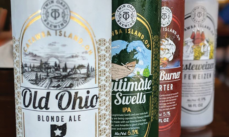 Twin Oast Brewing, Catawba Island, Ohio. Old Ohio Blonde Ale. Legitimate Swells IPA