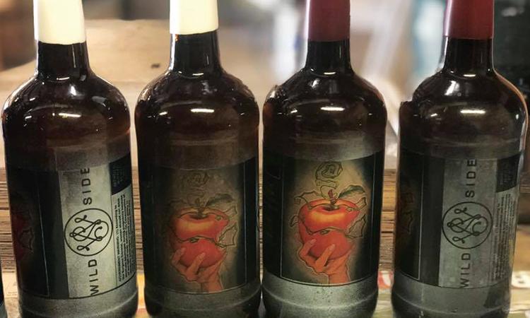 Wild Side Wild Apple Ale bottles