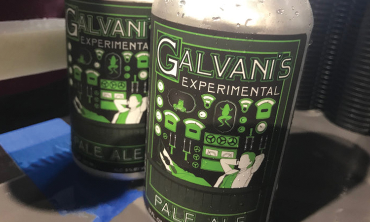 Actual Brewing - Galvani's Experimental Pale Ale cans