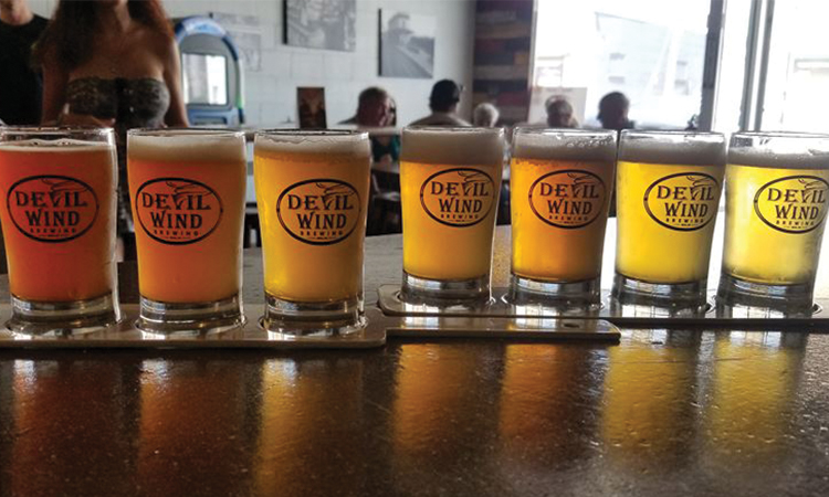 Devil Wind Brewing flight