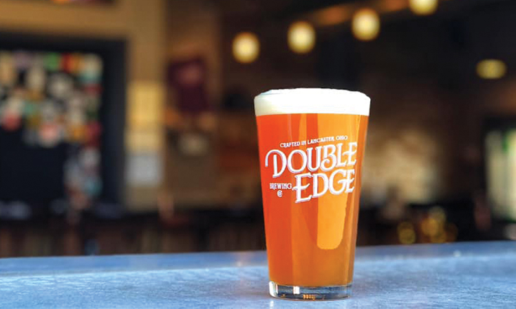 Double Edge Brewing pint glass