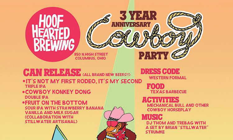 Hoof Hearted Brewing 3 Year Anniversary Cowboy Party