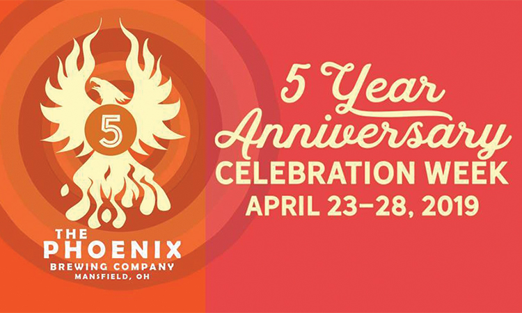 The Phoenix Brewing Company - 5 Year Anniversary Celebration Week April 23-28, 2019