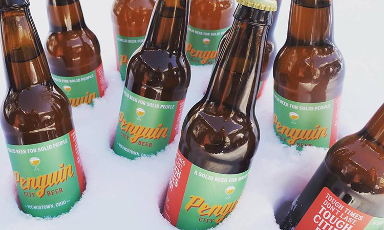 Penguin City Beer bottles