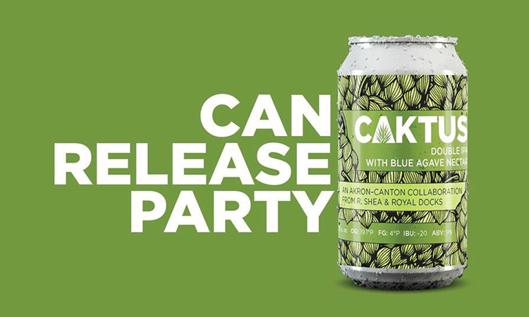 Can Release Party - Caktus Double IPA collaboration, Royal Docks Brewing & R.Shea Brewing