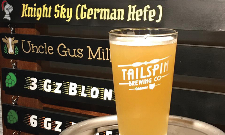 Tailspin Brewing Knight Sky German Hefeweizen