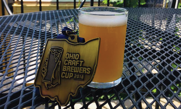 Ohio Craft Brewers Cup medal and taster glass