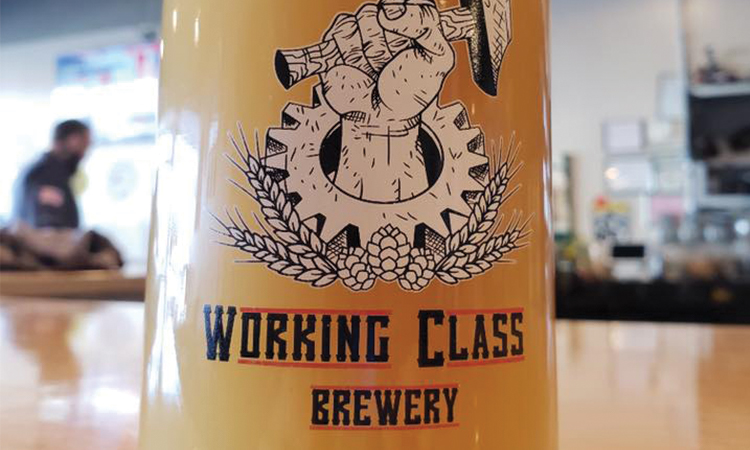 Working Class Brewery - hazy beer in glass