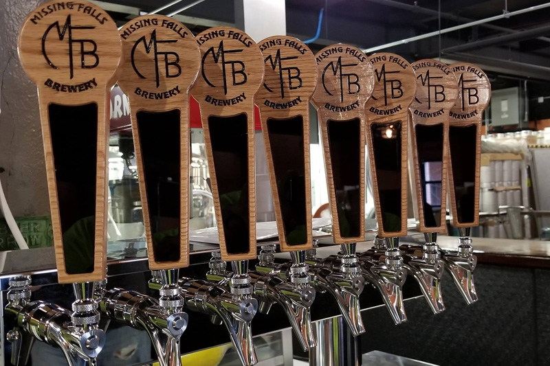 Missing Falls Brewery Tap Handles