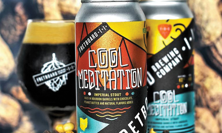 Fretboard Brewing Cool Meditation barrel aged imperial stout with peanut butter and chocolate