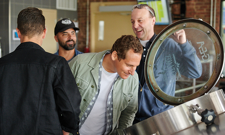 O.A.R. brewing The Mighty Lager at Great Lakes