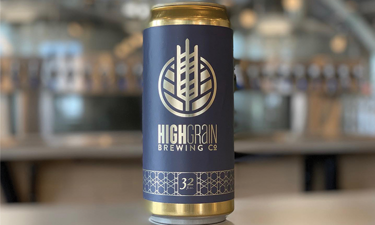 HighGrain Brewing Co. crowler can