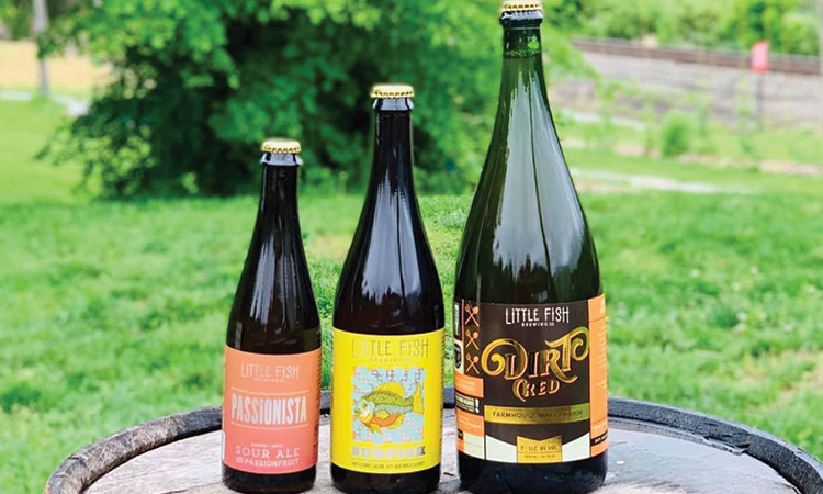 Little Fish Passionista, Sunfish and Dirt Cred bottles