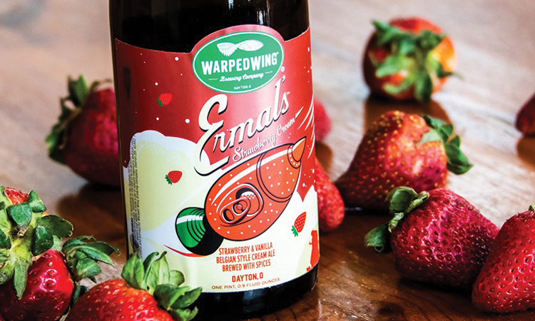 Warped Wing Ermal's Strawberry Cream Ale bottle