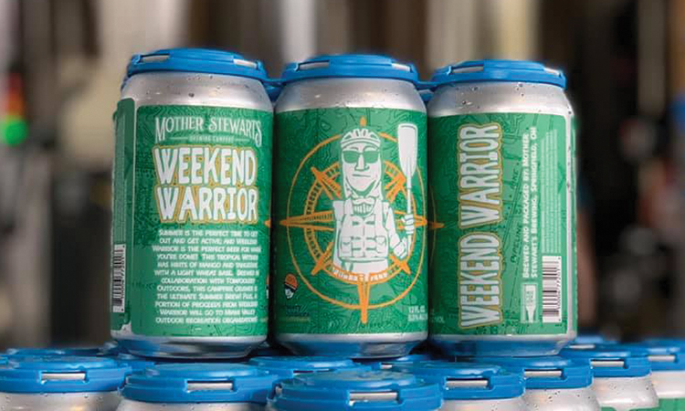 Mother Stewart's Brewing - Weekend Warrior Tropical Wit cans